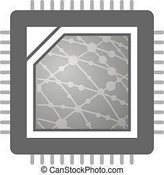 computer CPU illustration - Creative design of computer CPU...