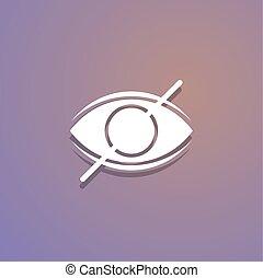 content explicit eye symbol