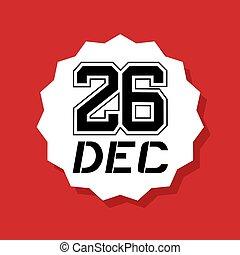 cool 26 dec icon - Creative design of cool 26 dec icon