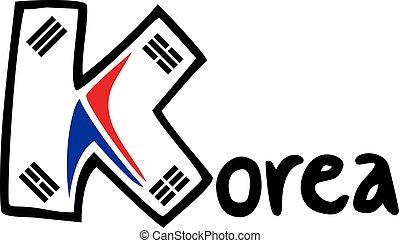 cool korea symbol - Creative design of cool korea symbol