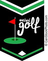 Creative design of cool minigolf emblem