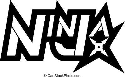 cool ninja symbol - Creative design of cool ninja symbol