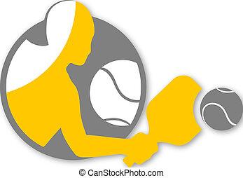 cool padel symbol