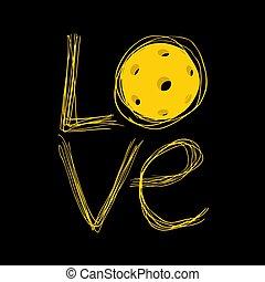 cool pickleball love symbol - Creative design of cool ...