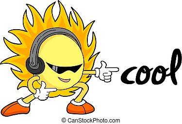 cool sun illustration