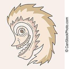 Crazy face - Creative design of Crazy face