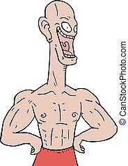 crazy strong man - Creative design of crazy strong man
