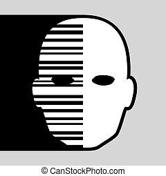 creative face symbol