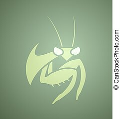 creative insect mantis icon