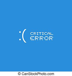 Critical error computer message