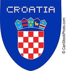 Croatia coat illustration - Creative design of Croatia coat...