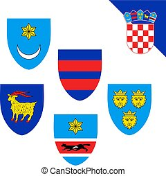 Croatia coat of arms set collection