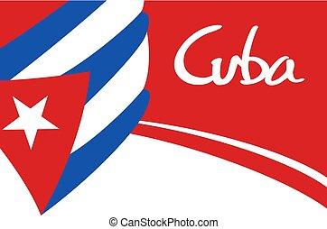 Cuba background illustration