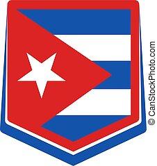 Cuba flag emblem