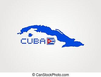 cuba map icon