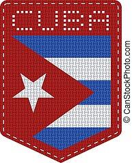 cuba textile flag