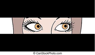 curiosity eyes illustration - Creative design of curiosity...