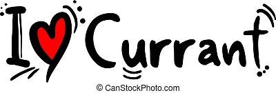 Currant fruit love message - Creative design of Currant...