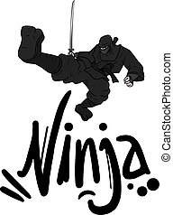 dark ninja - creative design of dark ninja