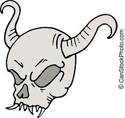 demon skull draw - Creative design of demon skull draw