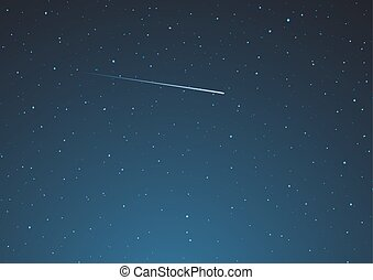 design of night sky with shooting star