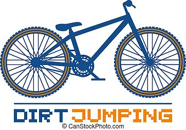 Dirt jumping bike illustration - Creative design of Dirt...