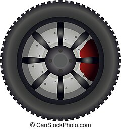 Creative design of dirt road wheel