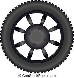 dirt road wheel draw - Creative design of dirt road wheel...