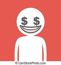 dollar money face draw