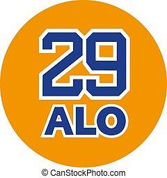 dorsal 29 symbol - creative design of dorsal 29 symbol