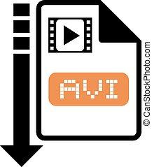 download avi symbol - Creative design of download avi symbol