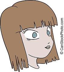 draw of woman head art