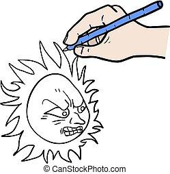 drawing a rebel sun - Creative design of drawing a rebel sun