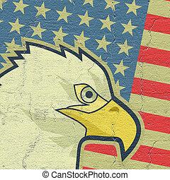 Eagle flag USA