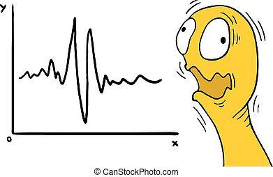 earthquake illustration - Creative design of earthquake...
