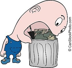 eating garbage - Creative design of eating garbage