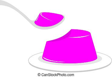 eating tasty jelly illustration - Creative design of eating...