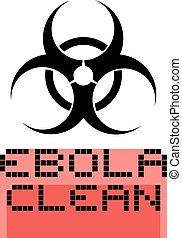 ebola clean symbol - Creative design of ebola clean symbol