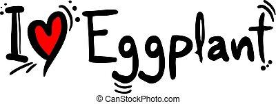 Eggplant fruit love symbol - Creative design of Eggplant...