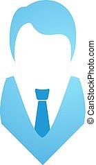 elegant blue man symbol