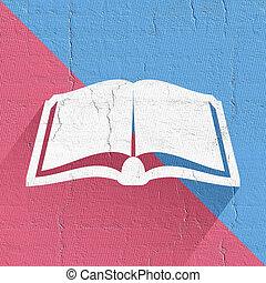 elegant book symbol