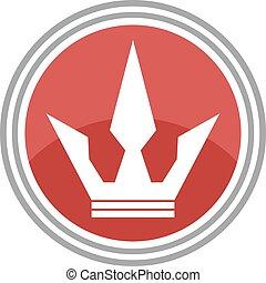 elegant crown symbol