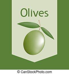 elegant green olives ribbon