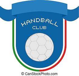 elegant handball club emblem