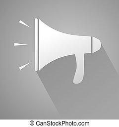 elegant megaphone icon