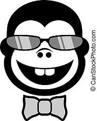 elegant monkey with glasses