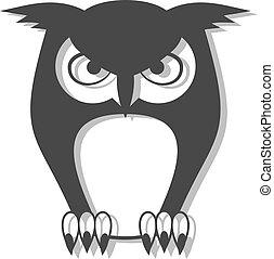 elegant owl symbol