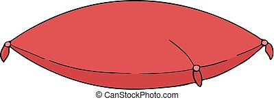 elegant red cushion draw - Creative design of elegant red...