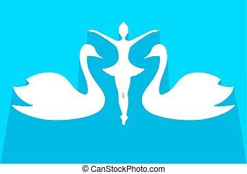 elegant swam dancer girl illustration