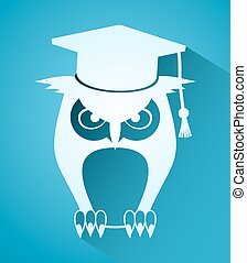 elegant teacher owl icon